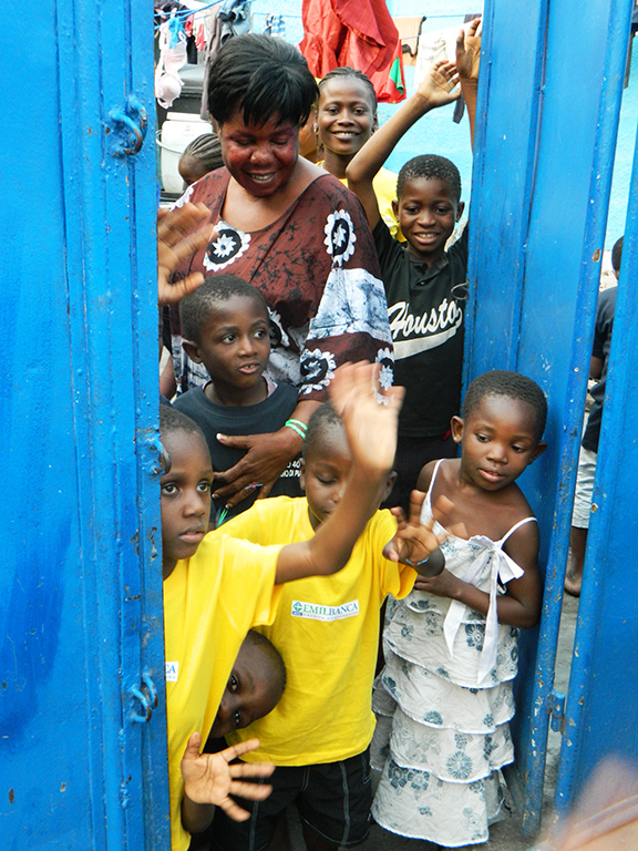 Kinshasa bambini orfanotrofio