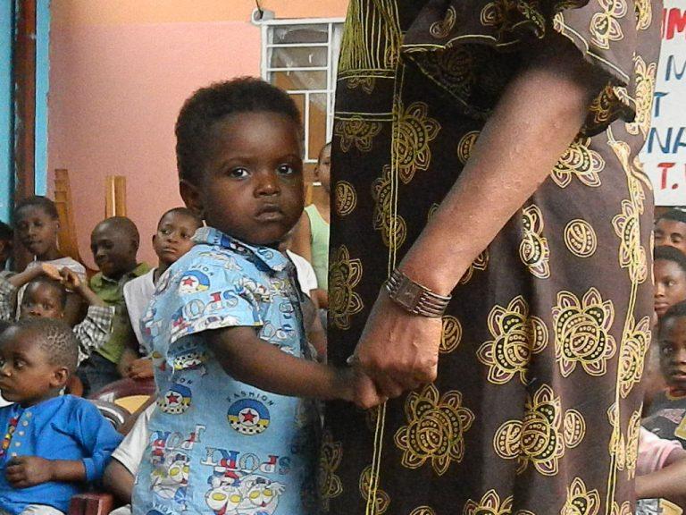 Orfanotrofio Congo bambina