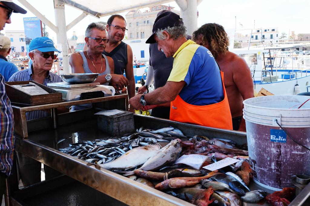 Mercato del pesce di Favignana