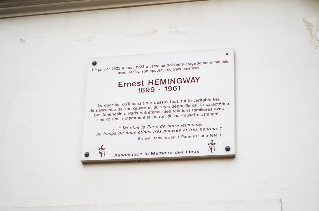 Itinerario Hemingway Parigi