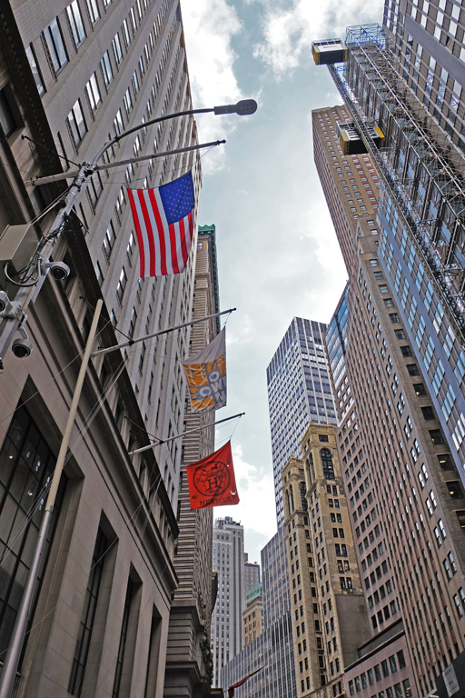 Wall Street New York grattacieli