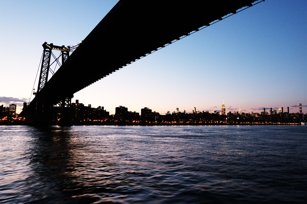 Ponte Brooklyn tramonto